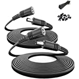 Itramax 30ft 12V DC Extension Cable (2-Pack),DC 2.1mm x 5.5mm 5521 Power Supply Adapter Flat Extender Cord,Female to Male Wir