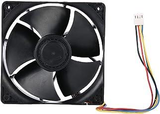 Richer-R 267CFM冷却ファン 高精度デュアルボールベアリング 6500RPM高速放熱 低騒音 4ピン冷却ファン コンピュータマイニング用
