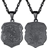 PROSTEEL Saint Michael The Archangel Necklace Pendant & Chain Catholic Religious Jewelry