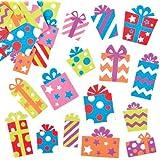 キラキラプレゼント?スポンジシール(120枚入り) クリスマスの工作や手作りカードのデコレーションに