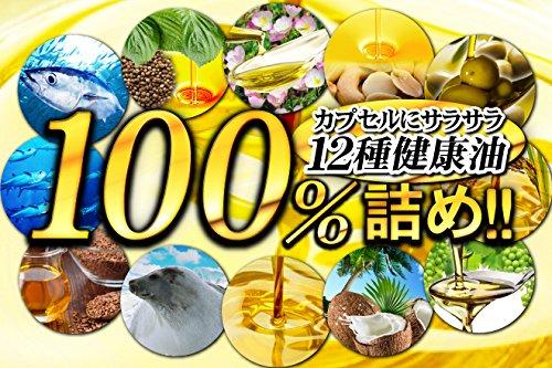 (約6ヵ月分/180粒)オメガ3(DHA+EPA)など健康油12種類を100%限界配合詰め!100%オイルdeオメガ3