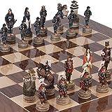 Japanese Samurai Chessmen & Columbus Avenueチェスボードfrom Spain