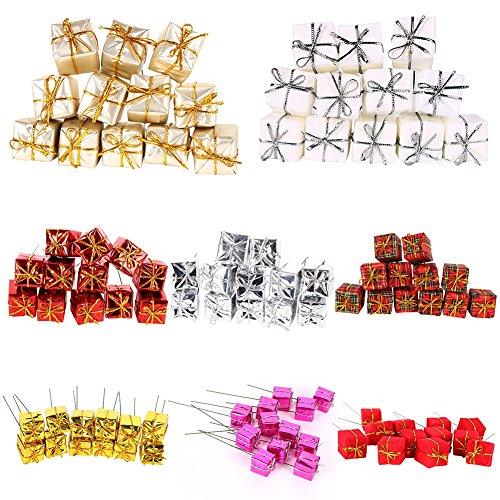 Etopfashion 8種カラーセット クリスマスツリーの飾り キャンディーギフト オーナメント 室内飾り デコレーション 新年飾り 雑貨 クリスマスプレゼント 2*2*2cm