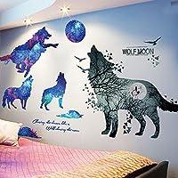 (ハッピー・ライフ)Happylife ウォールステッカー 動物 狼 はがせる壁紙 おしゃれ シール 壁飾り
