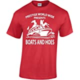 CBTWear Prestige Worldwide Boats and Hoes Funny Movie Inspired Tee Step Brothers Drinking Men's T-Shirt