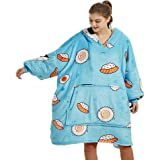 COZZZY Cute Prints Oversized Hooded Blanket for Adults, Premium Quality Ultra Plush G oodie Hoodie, The Comfy and Cosy Hoodie