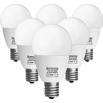 ボンコシ LED電球 E17口金 50W形相当 420lm 省エネ90% 昼光色相当(6W)6000K 広配光タイプ 6個パック …