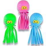 ArtCreativity Octopus Water Balls, Set of 3, Rubber Kids' Bath Toys, Sensory Stress Relief Pool Toys for Kids, Cute Goodie Ba