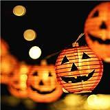 Makion Halloween Lights, Halloween Decorations Fairy Lights 2.5M/8.2FT 10 Led Pumpkin Lanterns Battery Powered String Lights