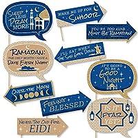 Funny Ramadan–Eid Mubarak写真ブース小道具キット–10Piece
