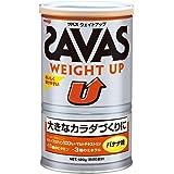 明治 SAVAS(ザバス) ウェイトアップ ホエイプロテイン+マルトデキストリン バナナ味 【20食分】 420g