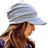 Lakota(ラコタ) スウェット キャスケット  帽子 春夏帽子 ゆったり被れる大きめサイズで自慢のシルエット美人になれる帽子。UV・小顔効果もアリ★ メンズ レディース 大きい 深い メンズ レディース (Mサイズ, グレー)