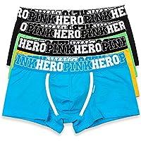 EVBEA 4 Pack Men's Underwear Briefs Big Soft Cotton Stretch Boxer Shorts Trunks Low Rise Hipster