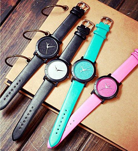 ZooooM ユニーク 星 空 宇宙 デザイン 文字盤 アナログ ウォッチ 腕 時計 ファッション アクセサリー おもしろ カジュアル メンズ レディース 男性 女性 男 女 兼 用 ( ピンク ) ZM-WATCH2-765-PK