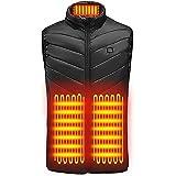 Vacally【2020進化版電熱ベスト】加熱ベストヒートジャケット超軽量 前後独立温度設定可能 USB充電式 3段温度…