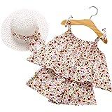 TUEMOS 4Pcs Thanksgiving Outfit Newborn Baby Boy Girl Long Sleeve Romper Tops+ Pants + Hat + Headband Clothes Set