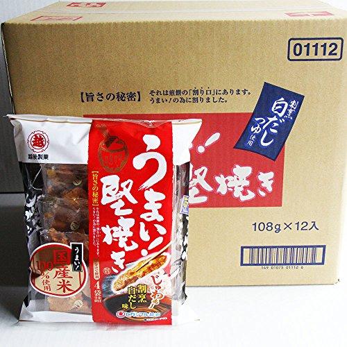 <越後製菓> うまい!堅焼き 割烹白だし味【108g】 ×12袋