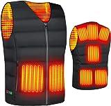 【2020款】 電熱背心 保暖背心 加熱夾克 加熱服 羽絨服 8個發熱層 3檔溫度調節 電熱服 超輕 防寒馬甲保暖服 男女通用
