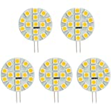 Hero-LED SG4-15T-DW Side Pin G4 LED Disc Halogen Replacement Bulb 3W 30W Equal Daylight White 5000K 5-Pack(Not Dimmable)