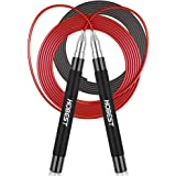 Jump Rope, Hobest Adjustable Tangle-Free Skipping Rope, Patent Self-Locking & Screw-Free Design Jumping Rope, Fitness Speed R
