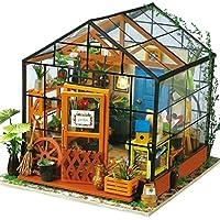 sacow木製DIY人形家3dステレオジグソーパズルHand Assembled 19.5*17.5*17.5cm