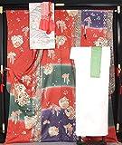 振袖6点セット 袋帯・長襦袢・帯揚〆・重衿 ぼかし花丸文 トールサイズ【中古】【リサイクルきもの・リサイクル着物・アンティーク着物・着物買い取りの専門店・りさいくるきものてんよう】