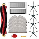 13Pcs Kit for Xiaomi Roborock S6 S60 S65 S5 MAX S6 MAXV S6 Pure Vacuum Cleaner Accessories, 1 Roller Brushes, 2 Filters, 4 Mo