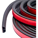 32Ft Long Self Adhesive Automotive Rubber Weather Draft Seal Strip Weatherstrip for Car Window Door Soundproofing Engine Cove
