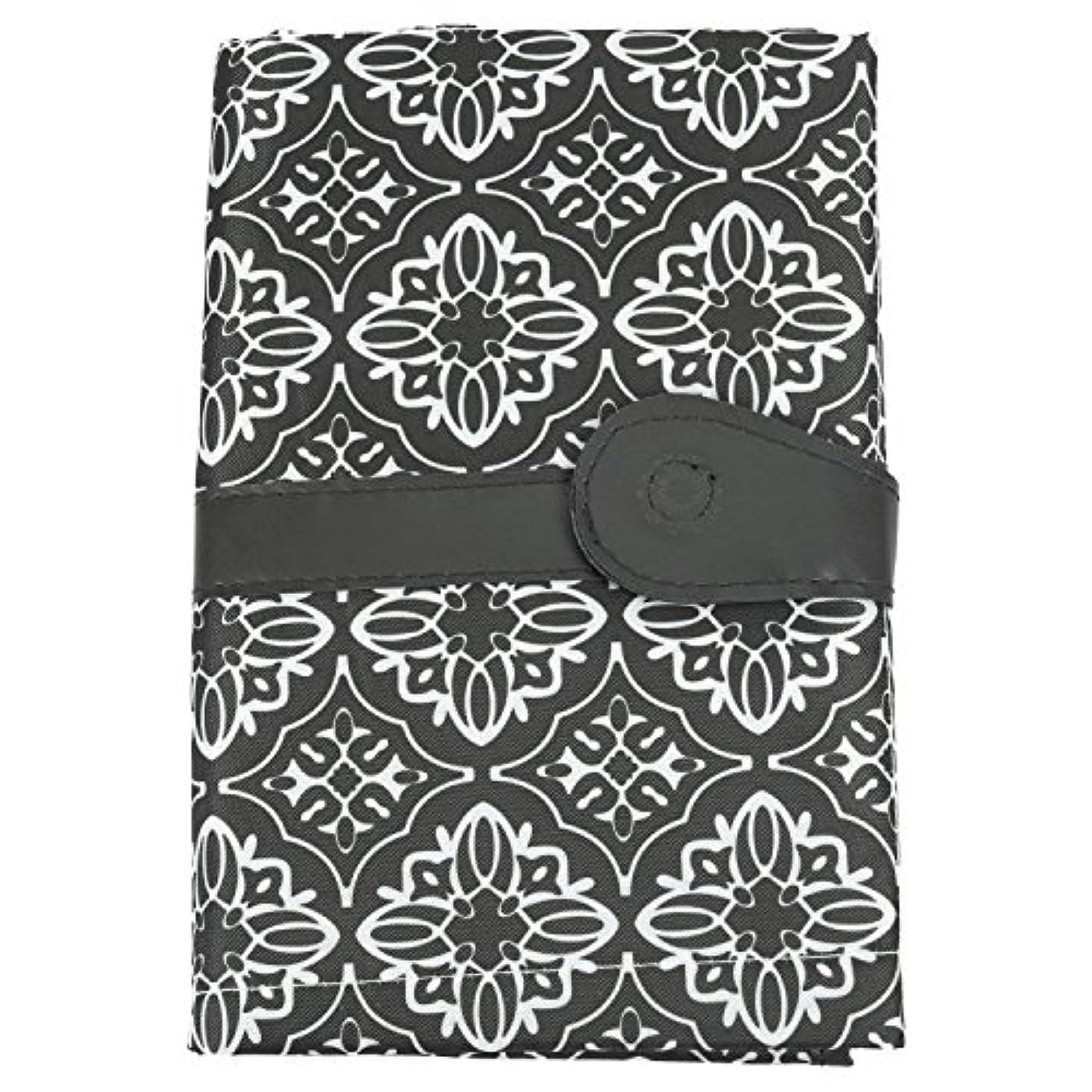Xigeapg 多目的ポータブルベビーおむつ袋ストレージ両親ための折りたたみ式防水紙おむつマット尿パッド看護バッグベビーケア(グレー花柄)