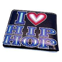 """新しいHiphop """" I Love Hiphop、財布スタイル5ポケットグラフィティスタイル財布コレクション、シンプルな5ポケット財布/クリアIDスロット、Hiphopスタイルコレクション"""