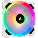 Corsair CO-9050091-WW LL120 RGB, 120 mm Dual Light Loop RGB LED, PWM, High Airflow Fan- White (Single Pack), No Controller
