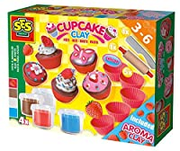 SES Creative Super Clay Cupcakes Set with Aroma Clay