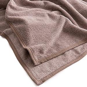 mofua natural タオルケット 杢 調 コットン 100% ダブル ブラウン 55560306