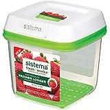 Sistema 1007667 Freshworks Med Square 1.5L - Green