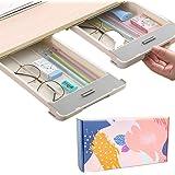 Desk Pencil Drawer Organizer Under Desk Storage,2 Pieces Self Adhesive Hidden Slide Out Under Desk Drawers Tray Space Saving