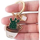 Bullidea 1 Pc Cute Cactus Plants Keychains Hanging Ornament Keyring Purse Bag Pendant Key Chain Rings
