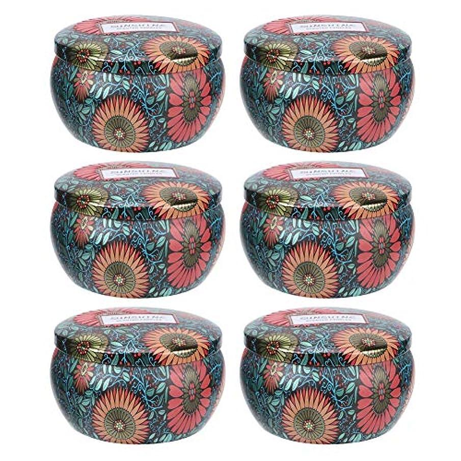 条約憂鬱クリック香りのキャンドル、6個の大豆ワックスアロマセラピー香りのキャンドルストレスリリーフポータブルキャンドルセットクリスマスデコレーションギフト