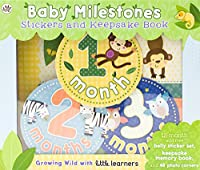 Baby Milestones Stickers and Keepsake Book: Growing Wild With Little Learners