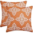 Andreannie Pack of 2 Outdoor Waterproof Decorative Throw Pillow Cover Cushion Case for Garden Patio Tent Park Farmhouse Polye