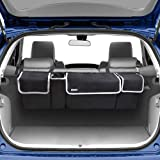 Backseat Trunk Organizer for SUV & Car - Hanging Organizer Foldable Cargo Storage Bag with 4 Pockets Adjustable Strap Durable