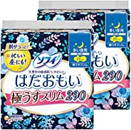Sofy Hadaomoi Ultra Slim 290 for Heavy Days and Night with Wings, 11.4 inches (29 cm), 15 Packs x 2 Packs (Uni