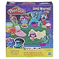 Play-Doh スーパーモンスターズムーンライトマジックツールセット 6色非毒性