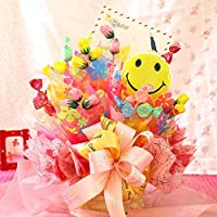 BunBunBee 【キャンディブーケ】 スイーツアレンジ 「ハッピーピンク」