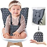 Portable Baby High Chair Safety Seat Harness for Toddler, Travel Easy High Booster Seat Cover for Infant Eating Feeding Campi