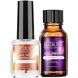 Rosydream 2PCS Professional Natural Nail Prep Dehydrate Nail Primer Strong Adhesion Nail Art Kit for Acrylic Powder Nail Gel