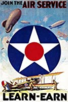 Join the Airサービスlearn-earn WWI Propaganda 12 x 18 Signed Art Print LANT-9847-708
