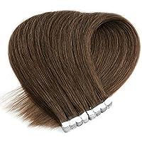 Neitsi(ネイティス) シールエクステ 人毛 エクステ ウィッグ テープエクステ エクステンション ストレートロング グラデーションウィッグ レミーヘア 髪の毛 16インチ10枚