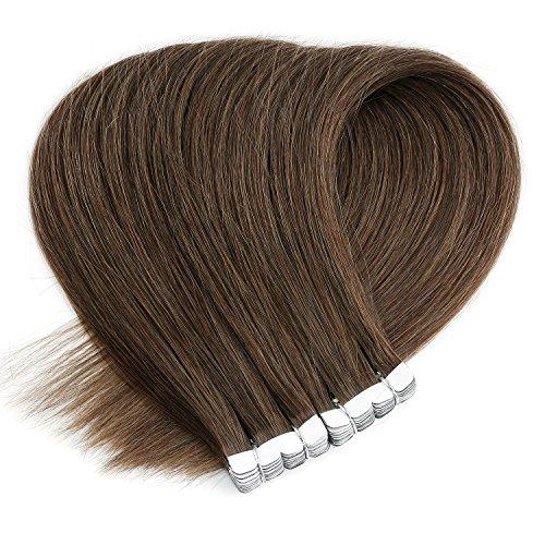 Neitsi(ネイティス) シールエクステ 人毛 エクステ ウィッグ テープエクステ エクステンション ストレートロング グラデーションウィッグ レミーヘア 髪の毛 16インチ10枚 (6)