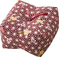 エムール 日本製 天然そばがら 正座クッション そばがら枕 中(22×22×13cm) 桜 あか