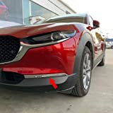 Beautost Fit for Mazda CX-30 CX30 2020 Front Fog Light Lamp Cover Bezel Trims Chrome
